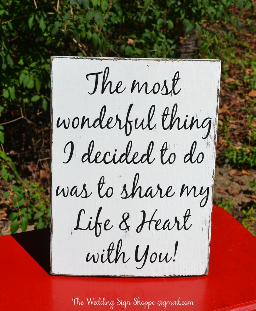 Love Plaques Quotes Stand Alone Anniversary Gift Rustic Wood Sign Love Quote Share My