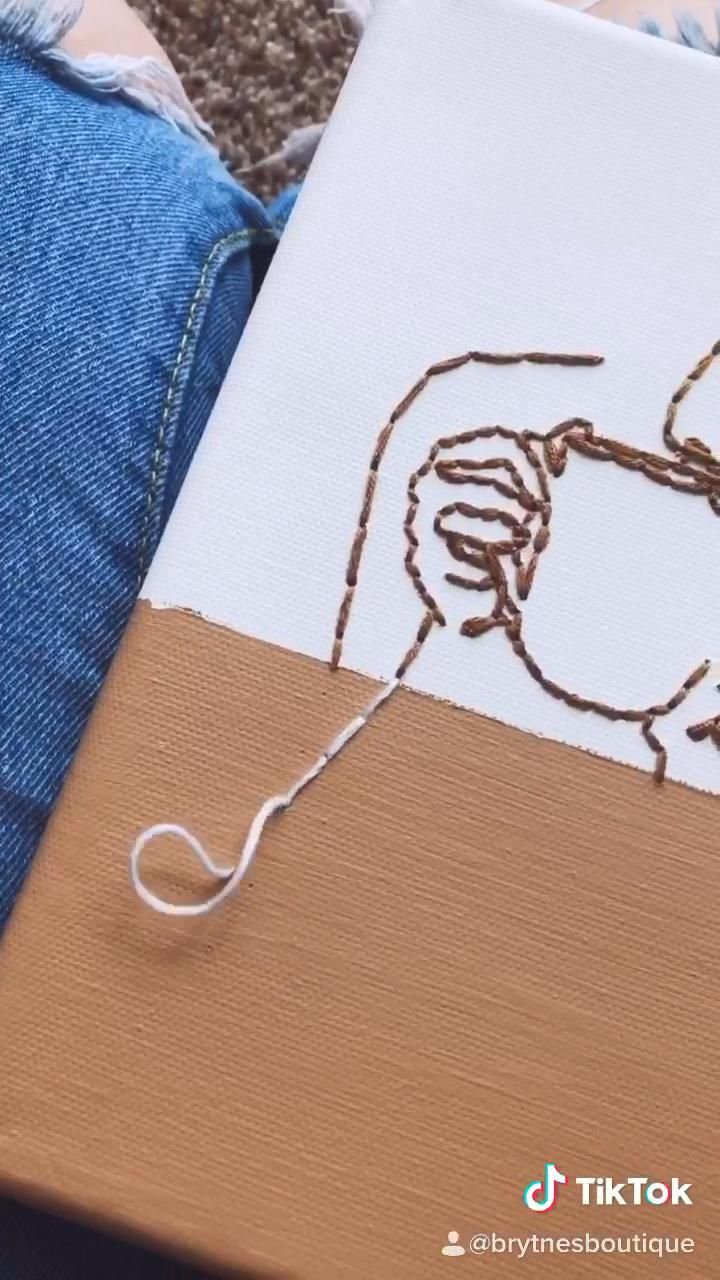 Photo of Embroidered Canvas Art | Coffee | Brytne's Boutique