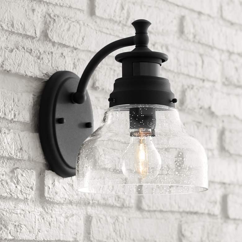 Nobel 10 High Black Motion Sensor Outdoor Wall Light 42f48 Lamps Plus Motion Sensor Lights Outdoor Modern Outdoor Wall Lighting Outdoor Wall Lighting