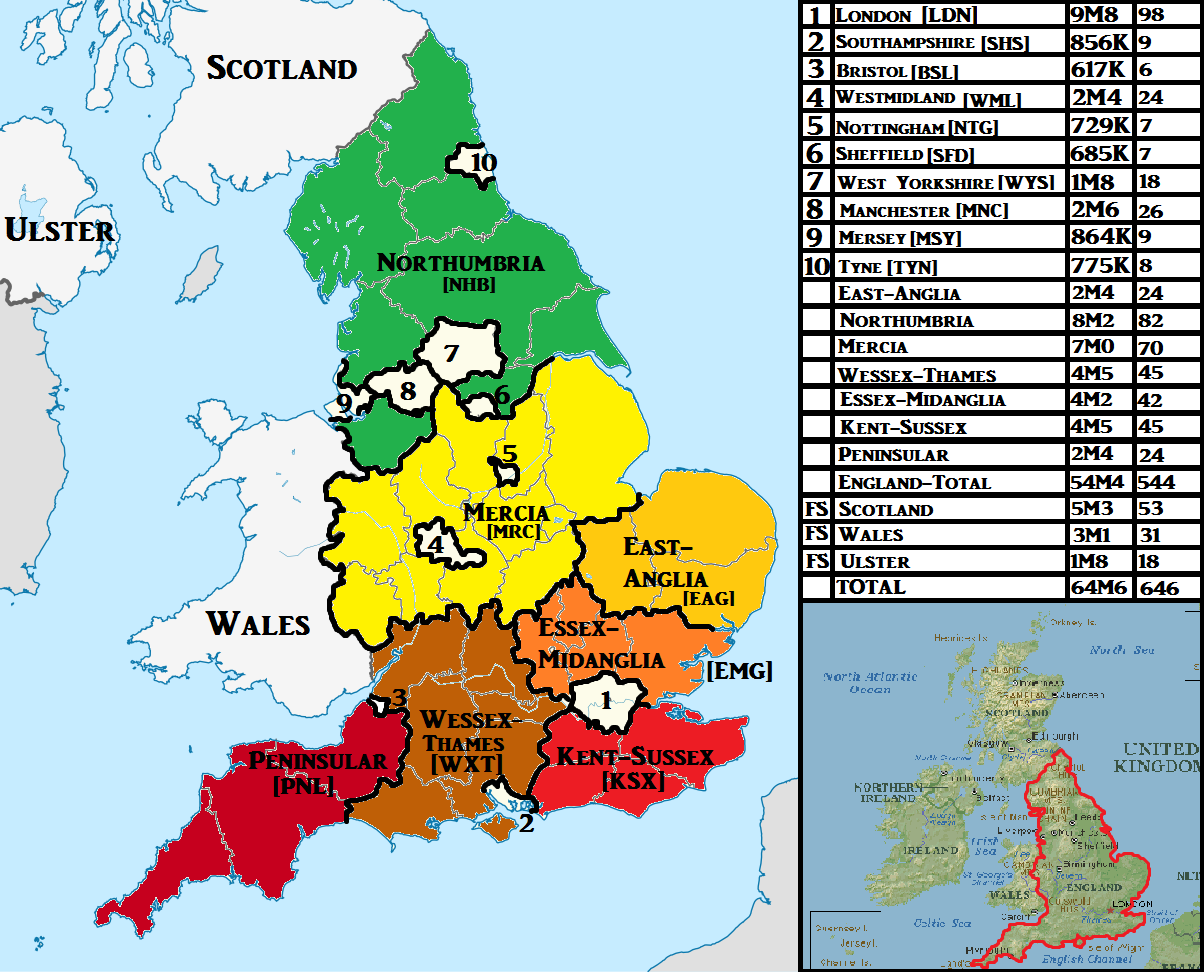 Map of England within a federal UK OC Imgur Maps Pinterest