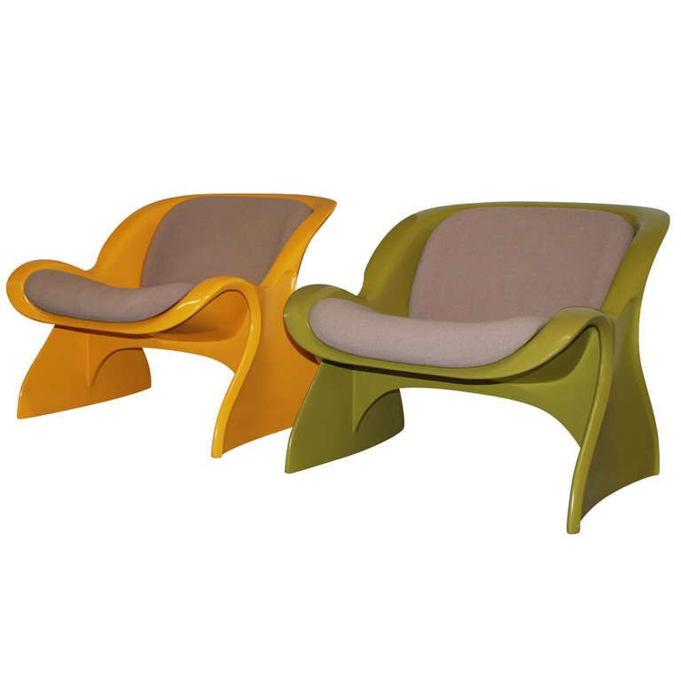 Peter Ghyczy Two Spring Chairs Very Rare Color 1stdibs Com Vintage Lounge Chair Lounge Chair Modern Lounge Chairs