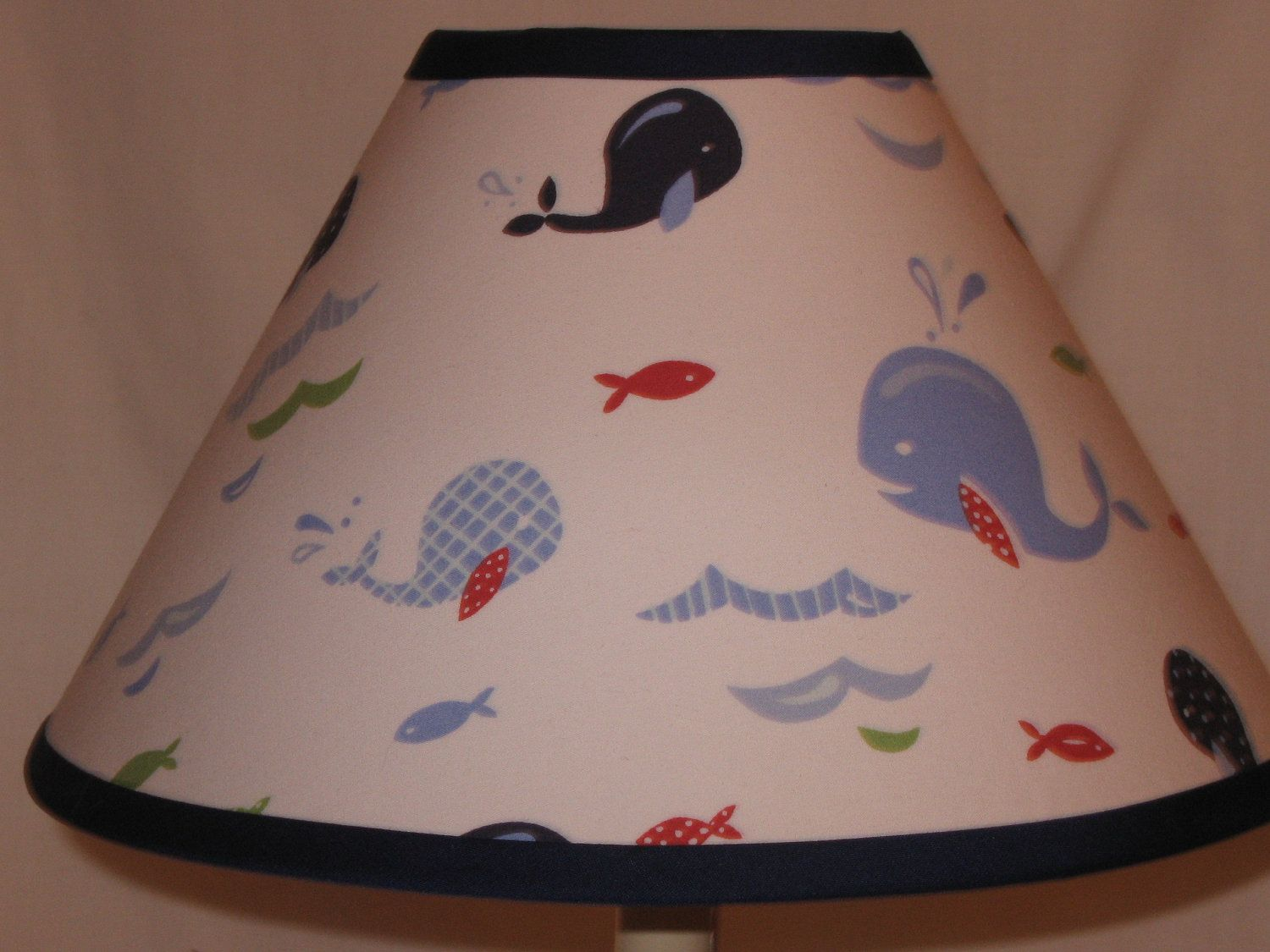 Jackson whale fabric lamp shade m2m pottery barn kids jackson items similar to jackson whale fabric lamp shade m2m pottery barn kids on etsy baby boy roomsbaby mozeypictures Images