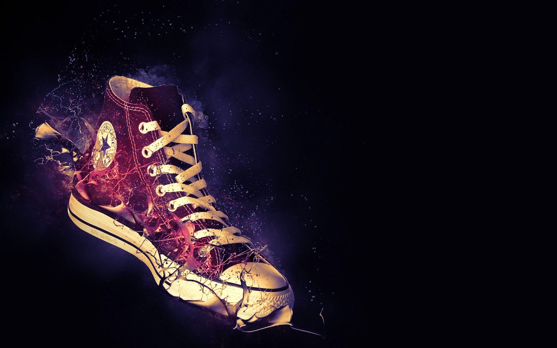 brand new 3cc50 bbf9d Resultado de imagen de converse 3D logo Fondos, La Estrella Del Arte,  Zapatos Deportivos