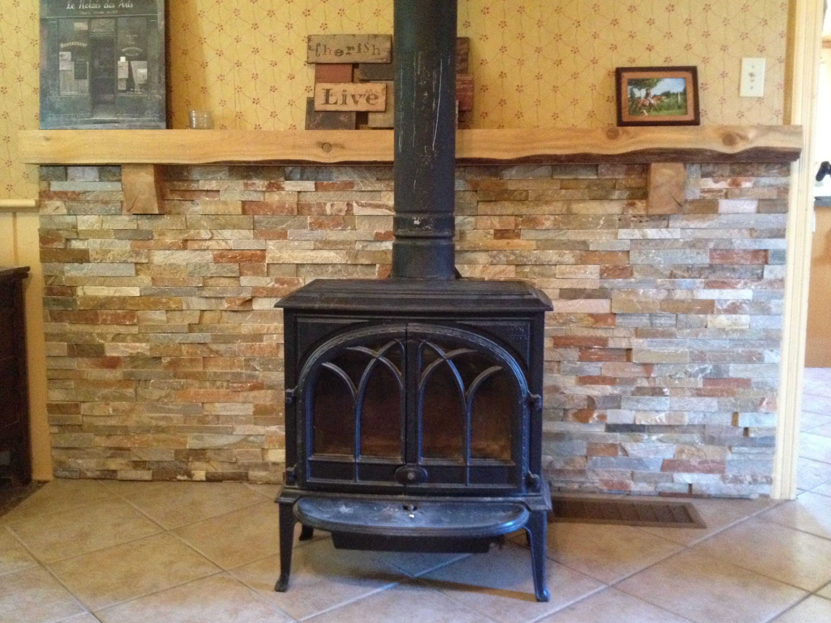 Mantle Behind Wood Stove Google Search With Images Wood