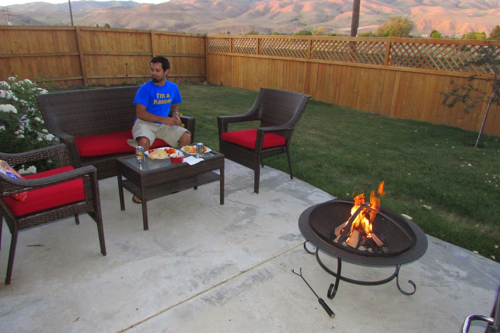 Fred Meyer patio set & fire pit   Fire pit, Fire pit patio ...