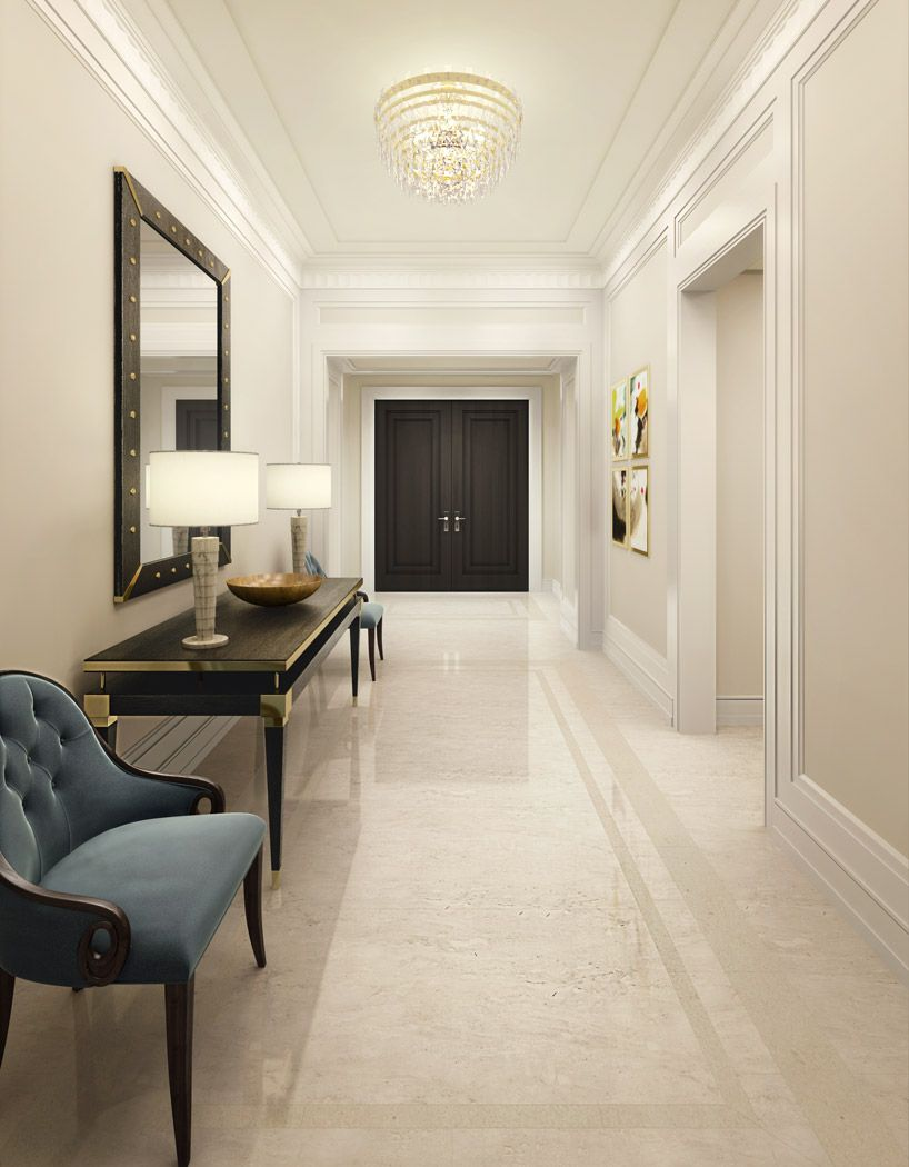 Alexandra Champalimaud Reveals First Residential Project In Nyc Home Room Design Modern Interior Design Corridor Design