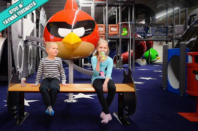 The world's biggest Angry Birds activity park in Vuokatti. Children and childishs come here to play and have fun.