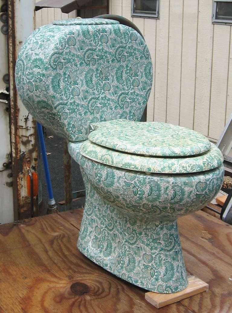 Antique toilet chair - Vintage Richard Ginori Paisley Toilet