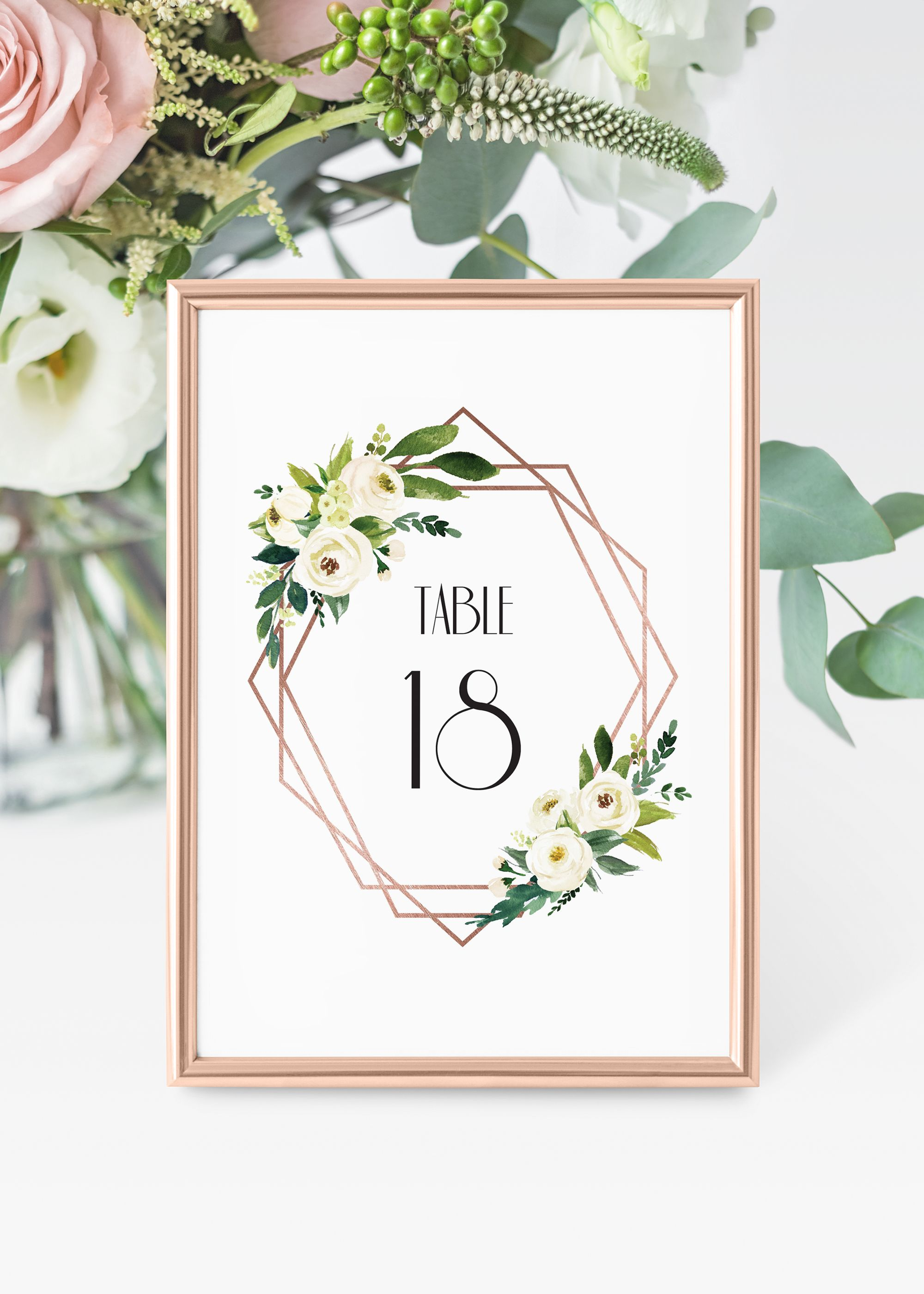1920's themed wedding decorations  Printable table numbersrose gold table numbers wedding table