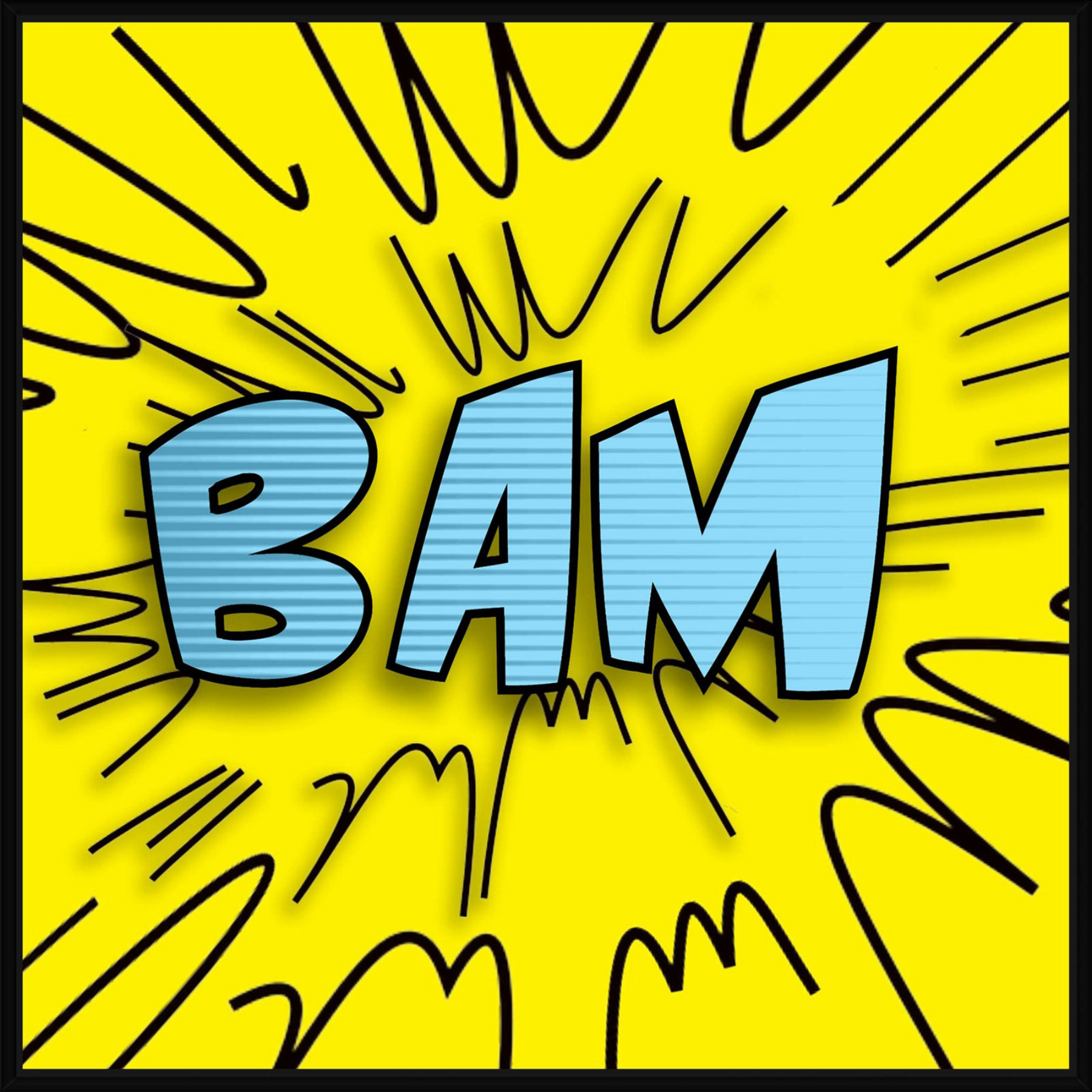 PTM Images Bam Word Bubble Wall Art - 9-87867 | Products