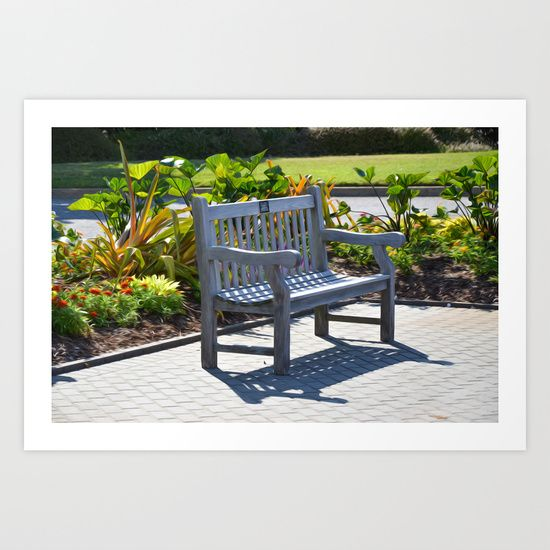 An Empty Bench Art Print by Lanjee  http://society6.com/product/an-empty-bench-4ov_print