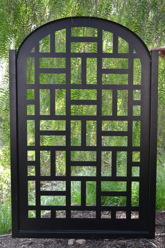 Lovely Metal Gate Contemporary Pedestrian Walk Thru Entry Cut Art Modern Iron  Garden By