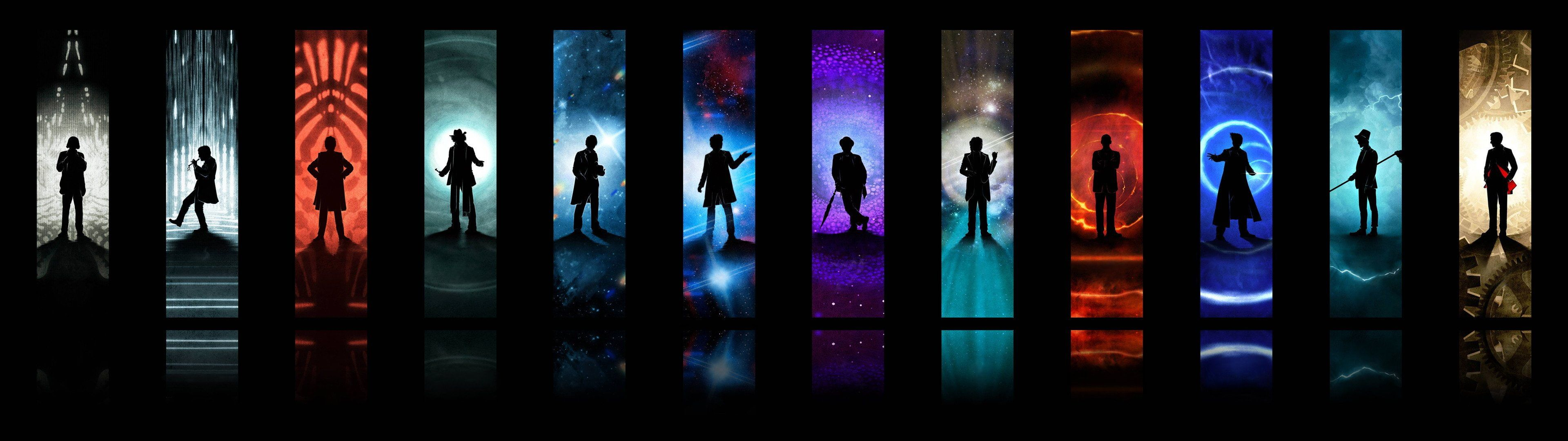 3840x1080 Px Adventure Bbc Comedy Doctor Drama Fi Futuristic Poster Sci Series Tardis Who In 2020 Dual Screen Wallpaper Hd Wallpaper Widescreen Wallpaper