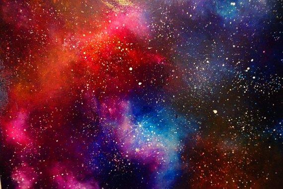 Pink Red Blue Galaxy Nebula Dark Matter Red And Blue