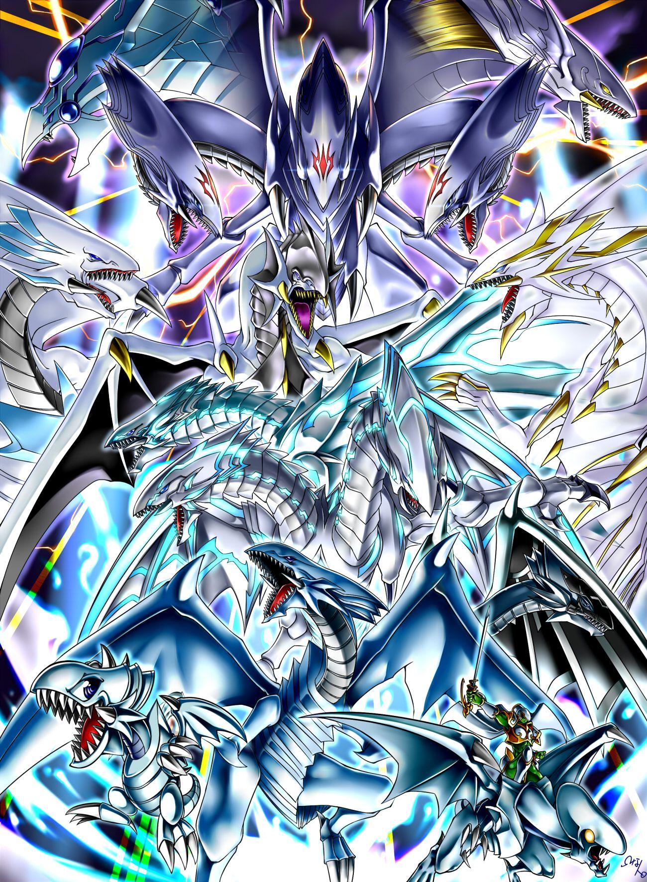 Pixiv Id 1380126 Yu Gi Oh Blue Eyes Toon Dragon Blue Eyes