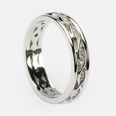 Muirne Las Wedding Band C 3818 Celtic Rings