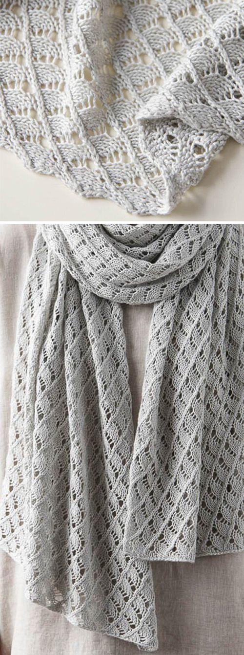 Little Moons Lace Wrap - Free Knitting Pattern #knittingpatternsfree
