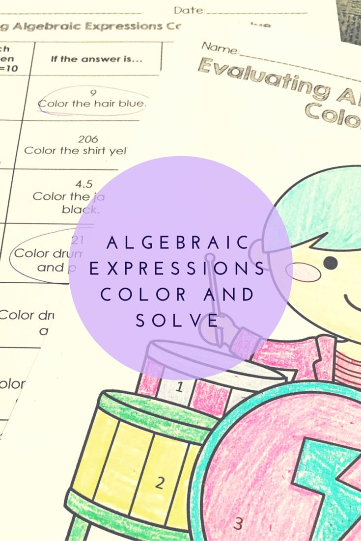 Algebraic Expressions Color And Solve Writing Algebraic Expressions Algebraic Expressions Algebra [ 1102 x 735 Pixel ]