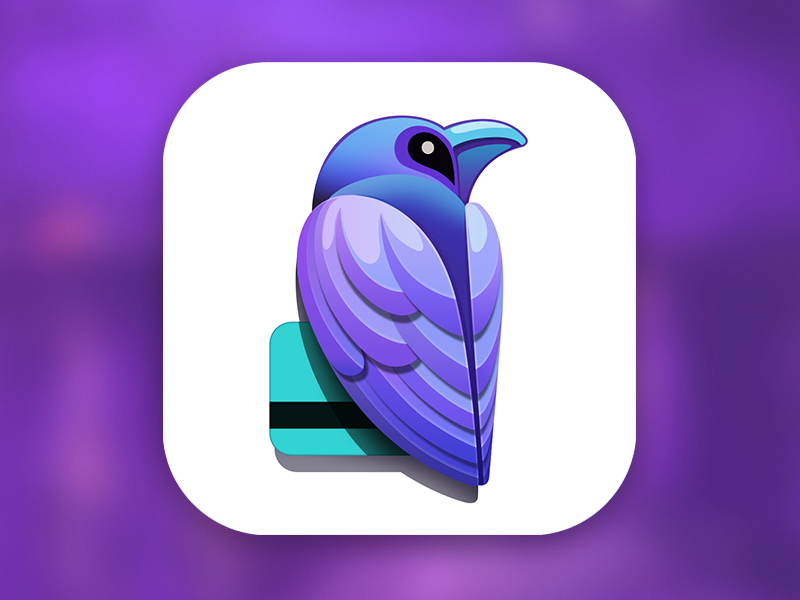 Raven App Icon [PSD] | More Ios app icon, App icon and Icons ideas