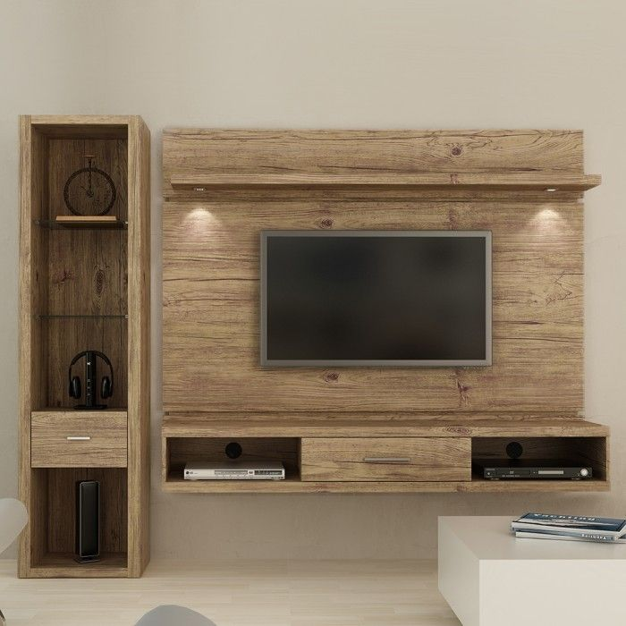 painel de tv com rack suspenso pesquisa google game room pinterest meuble tv meubles et tv. Black Bedroom Furniture Sets. Home Design Ideas