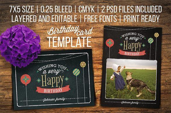 31+ Beautifully Designed Birthday Card PSD Templates! Free - birthday card templates free