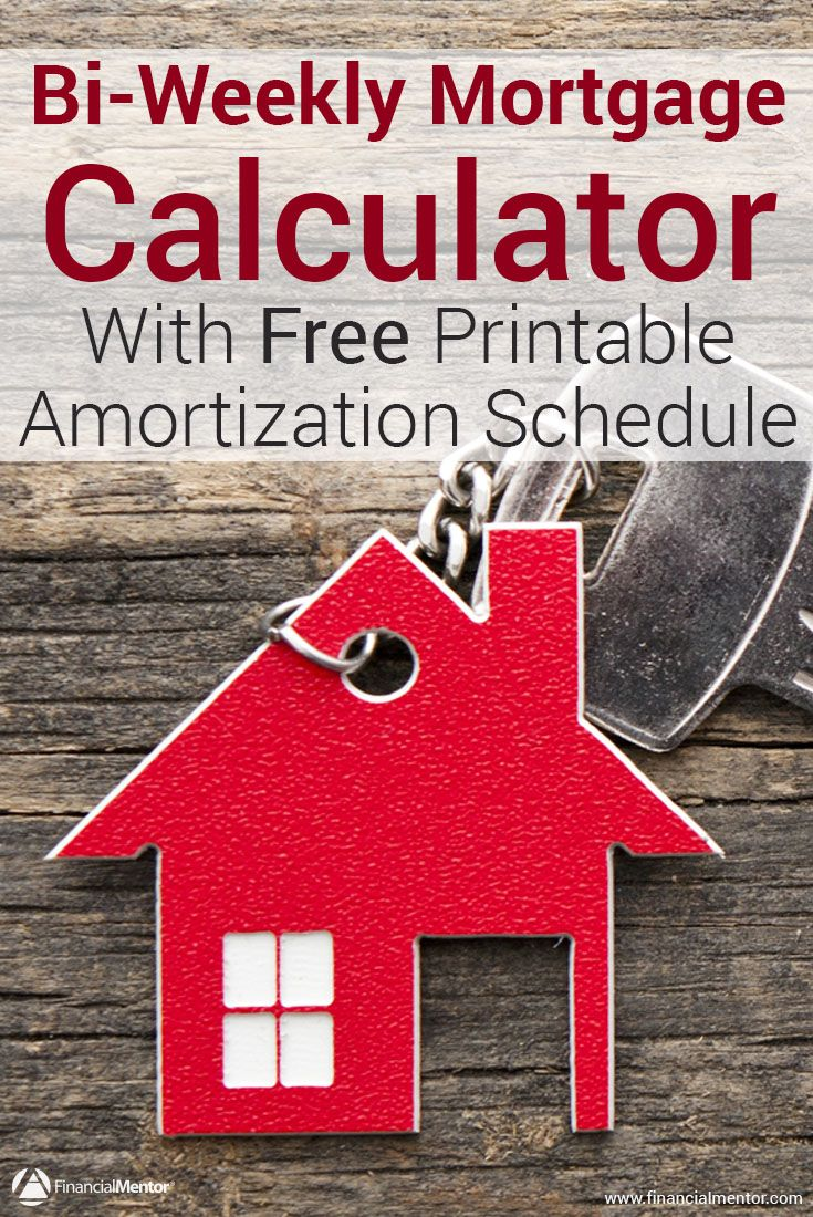 BiWeekly Mortgage Calculator  Extra Payment  Amortization Table