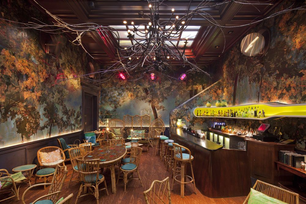Artsy Stylish And Cool Venue The Glade Bar Restaurant At Sketch
