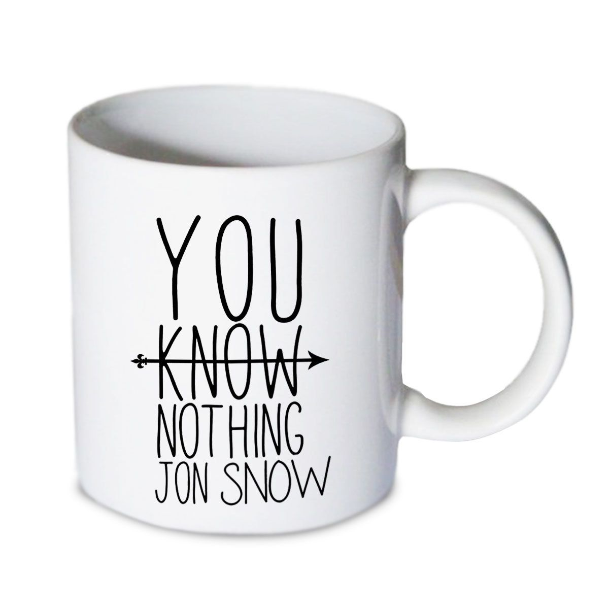 Coffee mug - You Know Nothing Jon Snow Q Mug - Custom Coffee mug - Ceramic