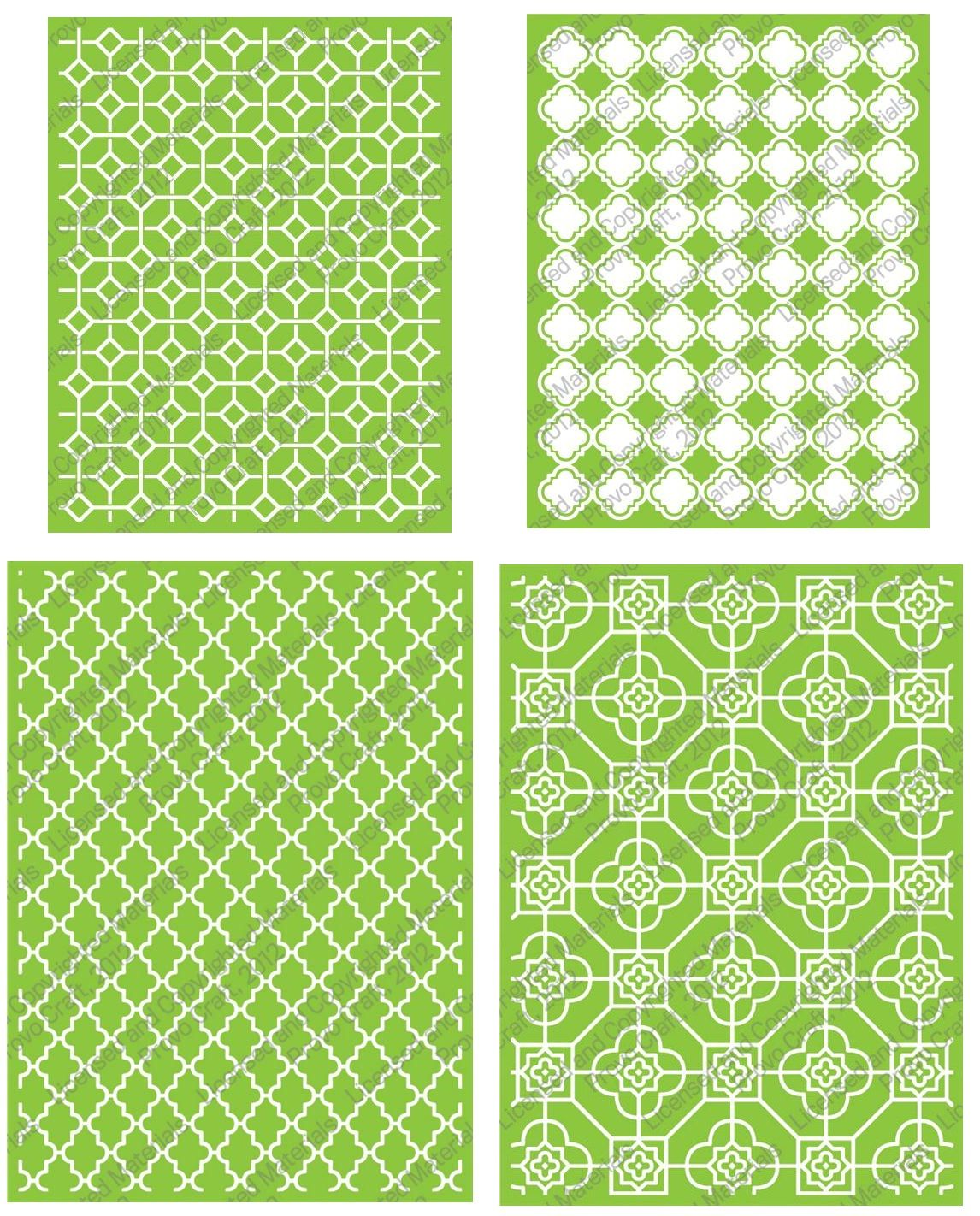 Lifestyle crafts embossing folders - Cuttlebug Embossing Folder Bundle Decorative Tile Set