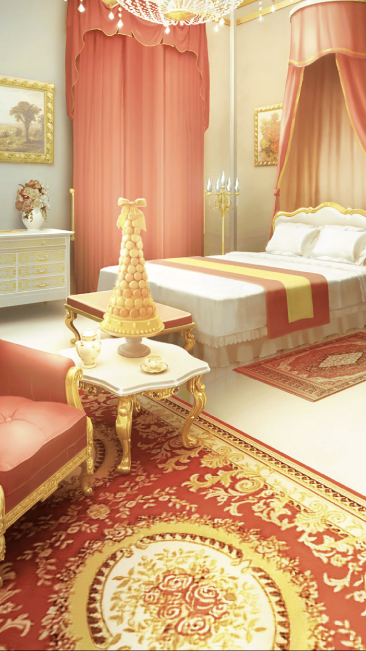 Elegant Red And Gold Bedroom