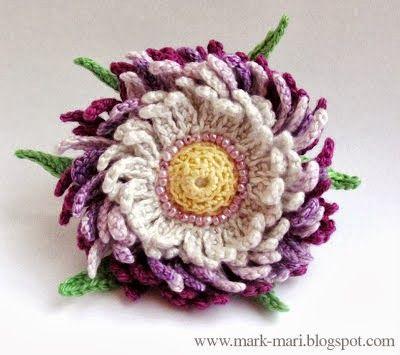 Crochet Flowers Pinterest Crochet Flowers Diagram
