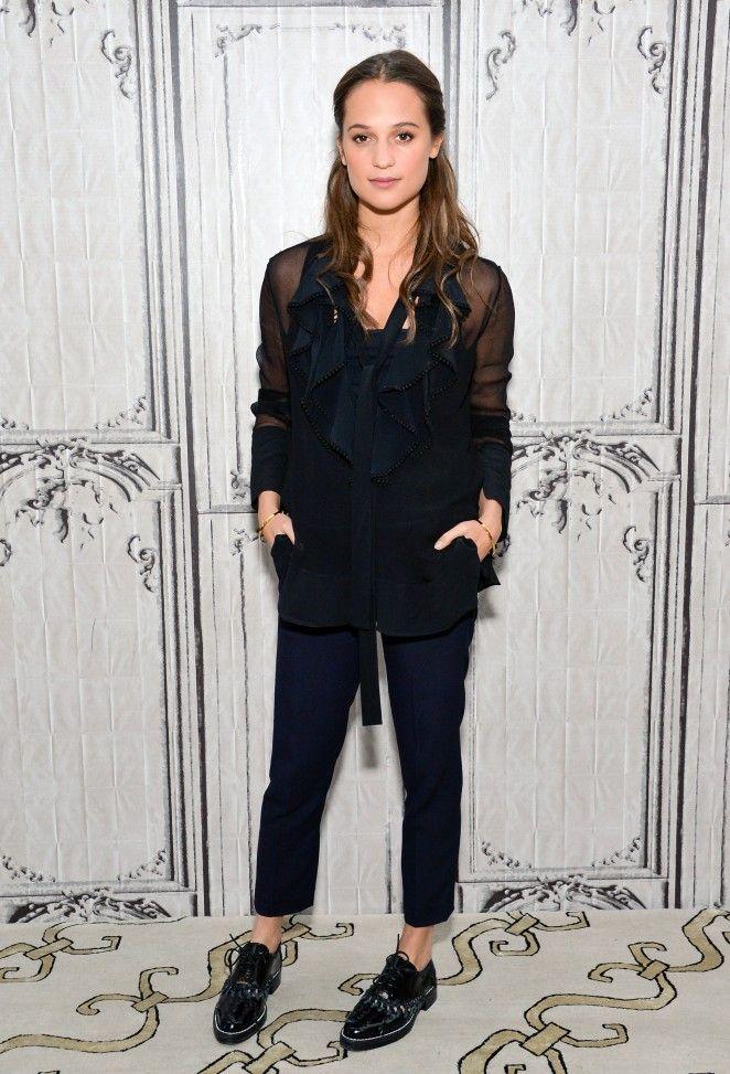 Alicia Vikander - AOL's BUILD Speaker Series in New York - December 15, 2015
