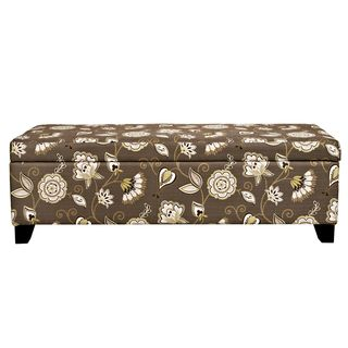 Pleasant Portfolio Blane Brown Floral Storage Ottoman Home Decor Gmtry Best Dining Table And Chair Ideas Images Gmtryco