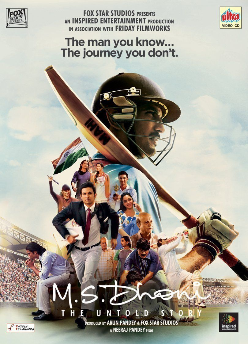 M.S. Dhoni The Untold Story Bollywood DVD (English