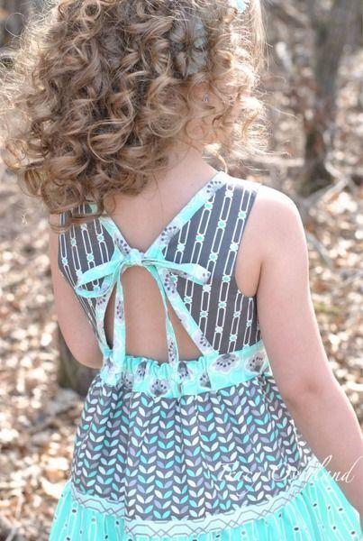 Mias Tieback Top Dress Maxi Pdf Sewing Pattern For Toddler Girl