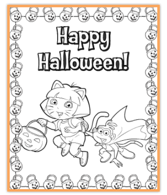 Free Halloween Coloring Pages My Frugal Adventures Free Halloween Coloring Pages Halloween Printables Nick Jr Coloring Pages
