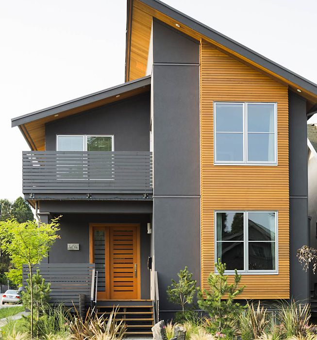 asymmetric roof line modern house exterior house on modern house designs siding that look amazing id=35197