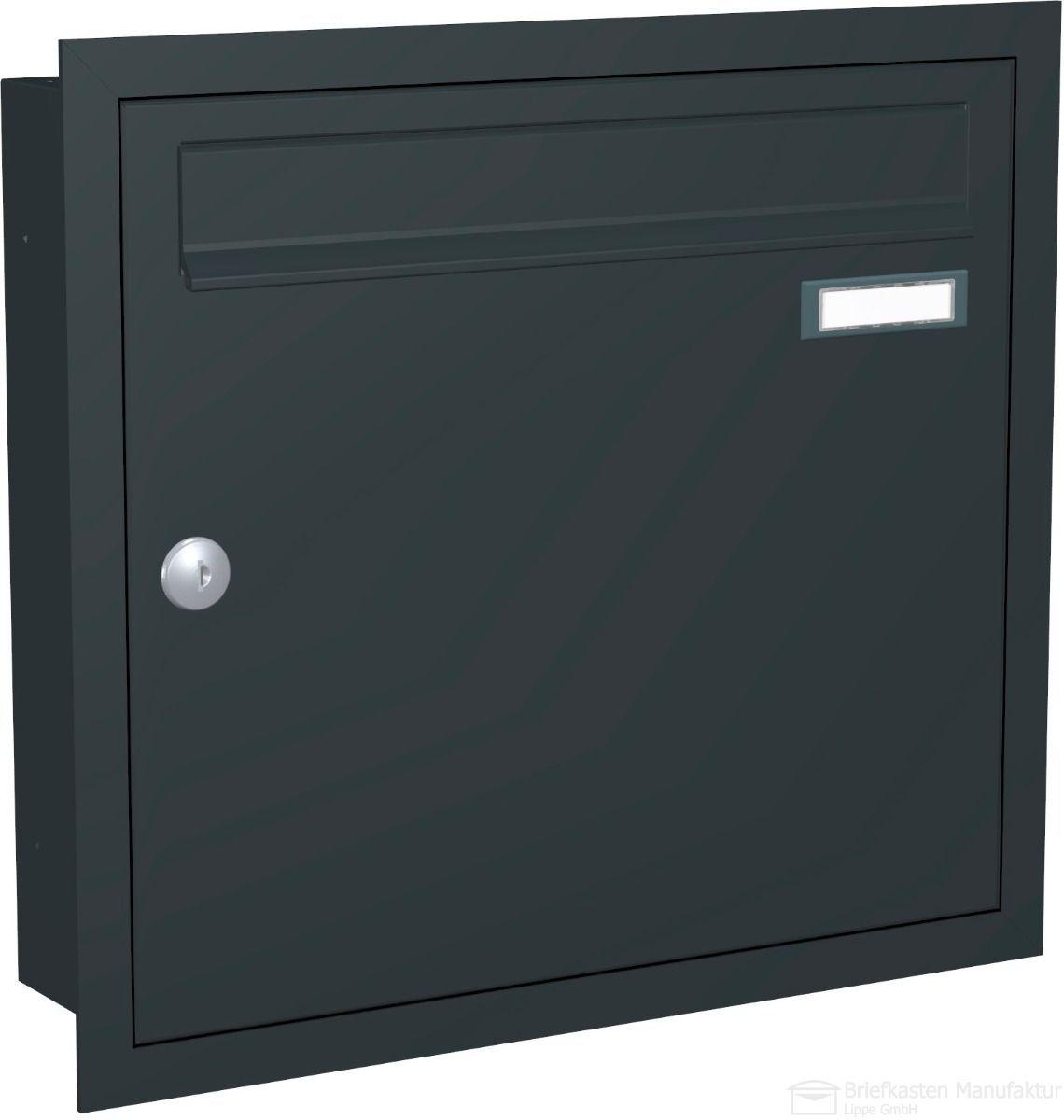 Unterputz Briefkasten CLASSIC 534 UP 1 Partei in RAL 7016 anthrazitgrau feinstruktur matt