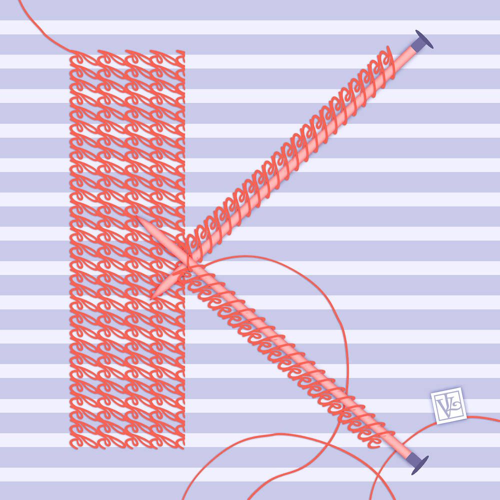 The Letter K for Knitting(Simple). | Words and Letters | Pinterest ...