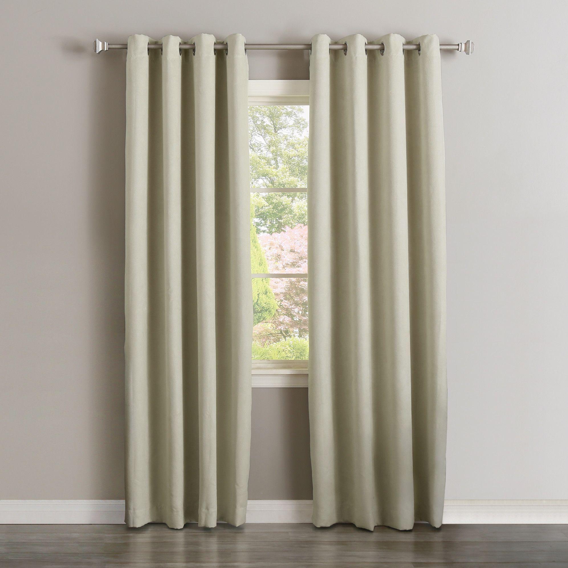 Jack Faux Suede Blackout Curtain Panels Curtains Panel Curtains