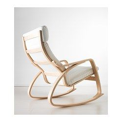 ikea white rocking chair dining chairs amsterdam poang granan birch veneer 169
