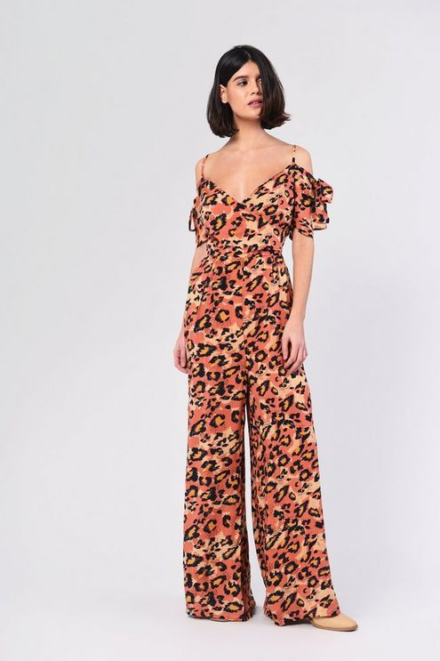 1dbe0ff593 Womens   Leopard Jumpsuit By Glamorous - Multi in 2019