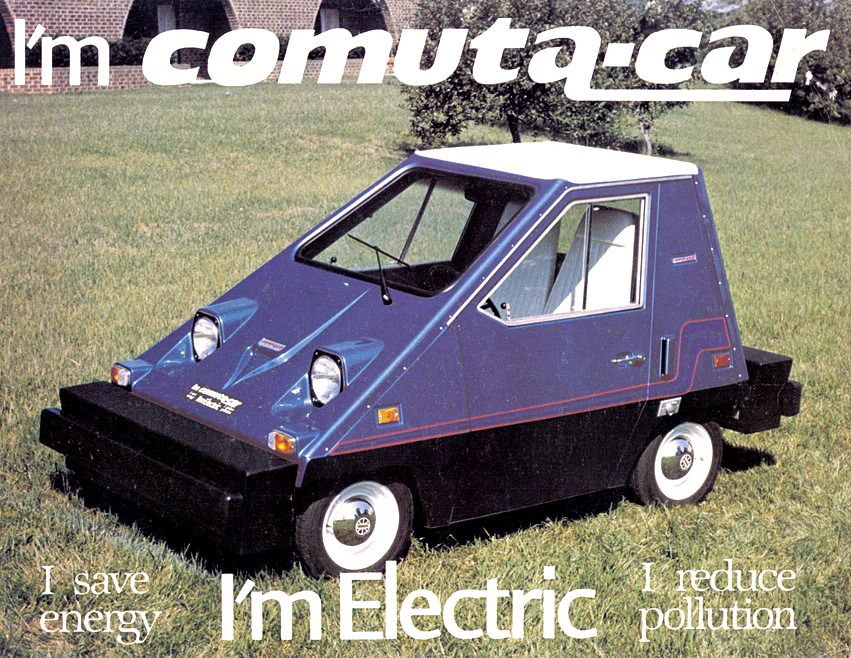 Comuta Car And Comuta Van 1979 A Range Of Electric Vehicles Which Had Begun Life In 1974 As The Citicar Made By The Vanguard Car Electric Cars Electric Car