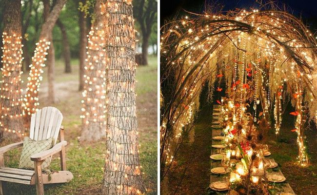 16 Brilliant Ways To Use Fairy Lights At Your Wedding Reception