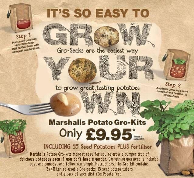 Potato Grow Kits Gardening Kitchengarden Pinterest Grow Kit