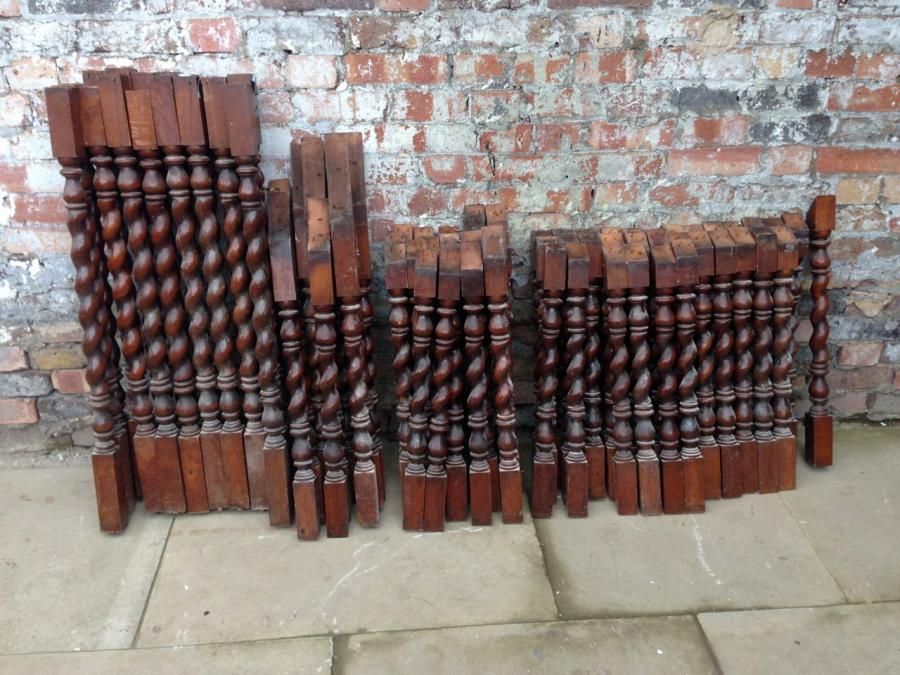 Superb Antique Staircase Spindles With A Barley Twist Design For Sale On SalvoWEB  From Architectural Forum In