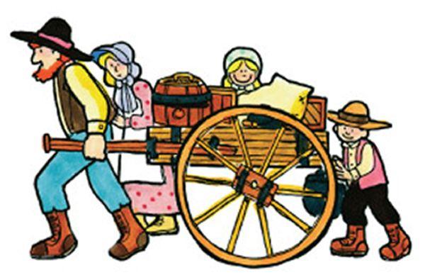 Pioneer Handcart Clipart