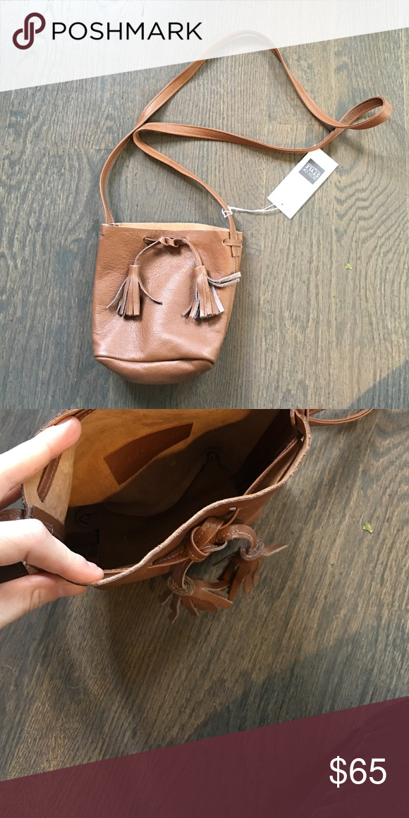 Nwt Brown Leather Bucket Bag Rachel Zoe