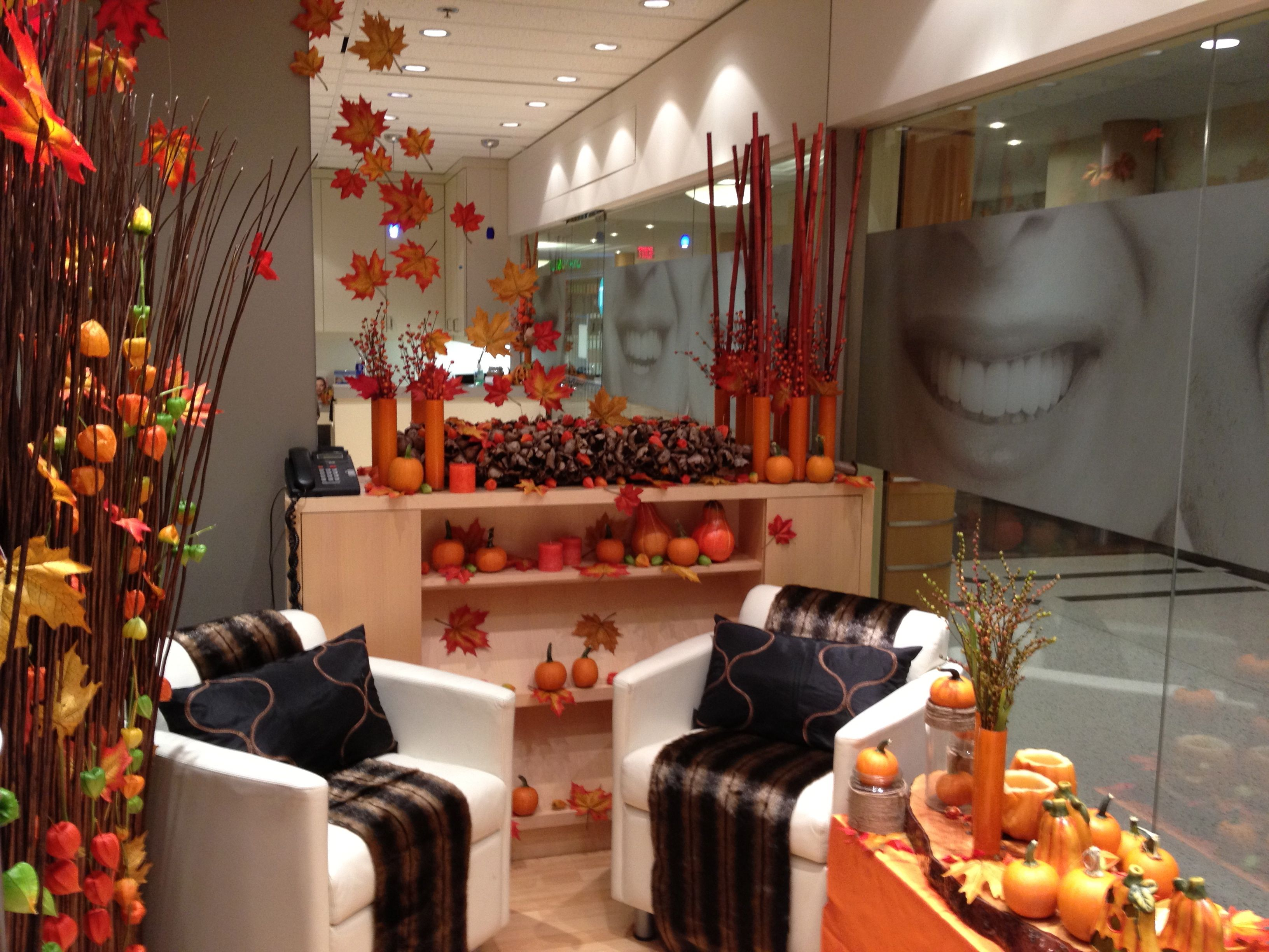 Autumn in the dental office party decor pinterest