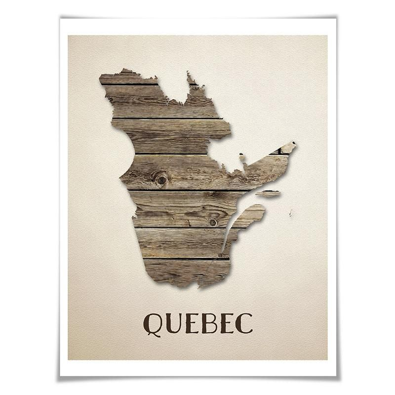 Quebec Map Art Print 5 Sizes Travel